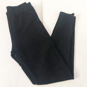 Black Glitter Specked Leggings Sz: Medium